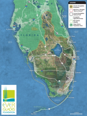 Florida Everglades Map 8.5x11